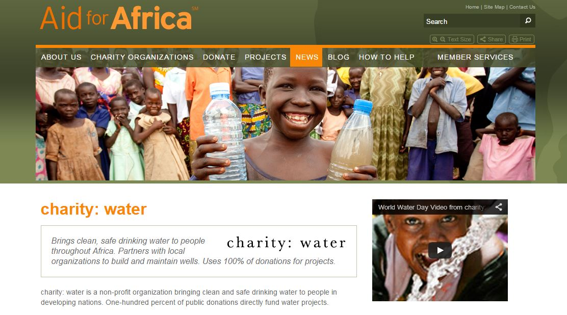 how to cancel water aid donation