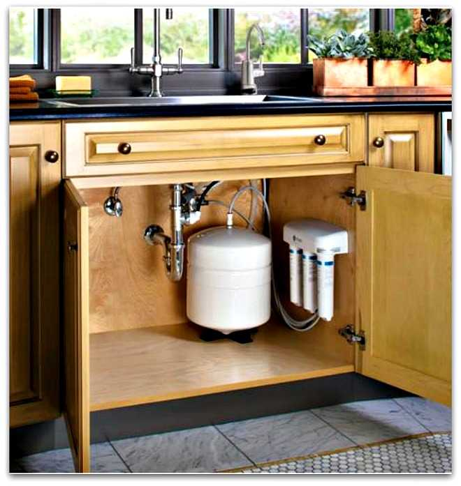 custom-fit-tv-in-kitchen-cabinet Under Sink Kitchen Organizer