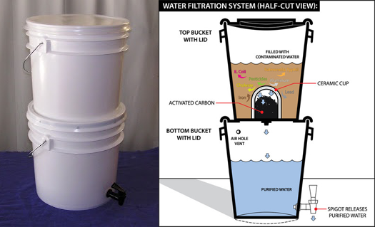 Homemade Water Purifier. DIY Water