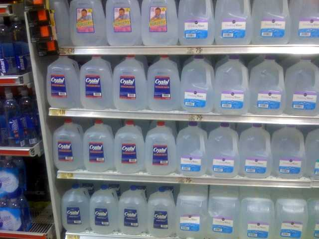 bottled distilled water in groceries