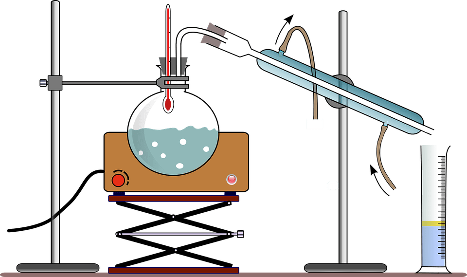 forms a distillate
