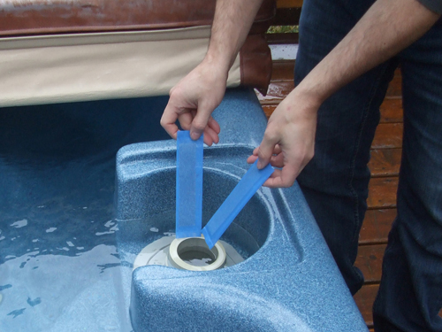 a clean and functioning hot tub